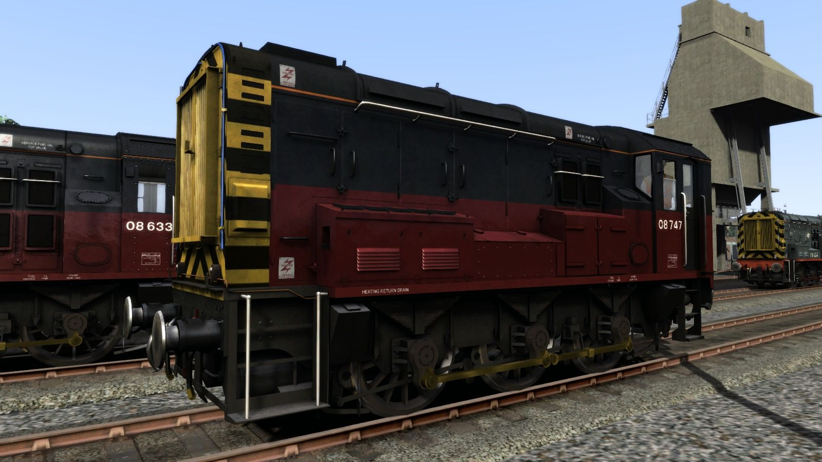 Image showing screenshot of the Class 08 RES Add-On Livery on the TS Marketplace