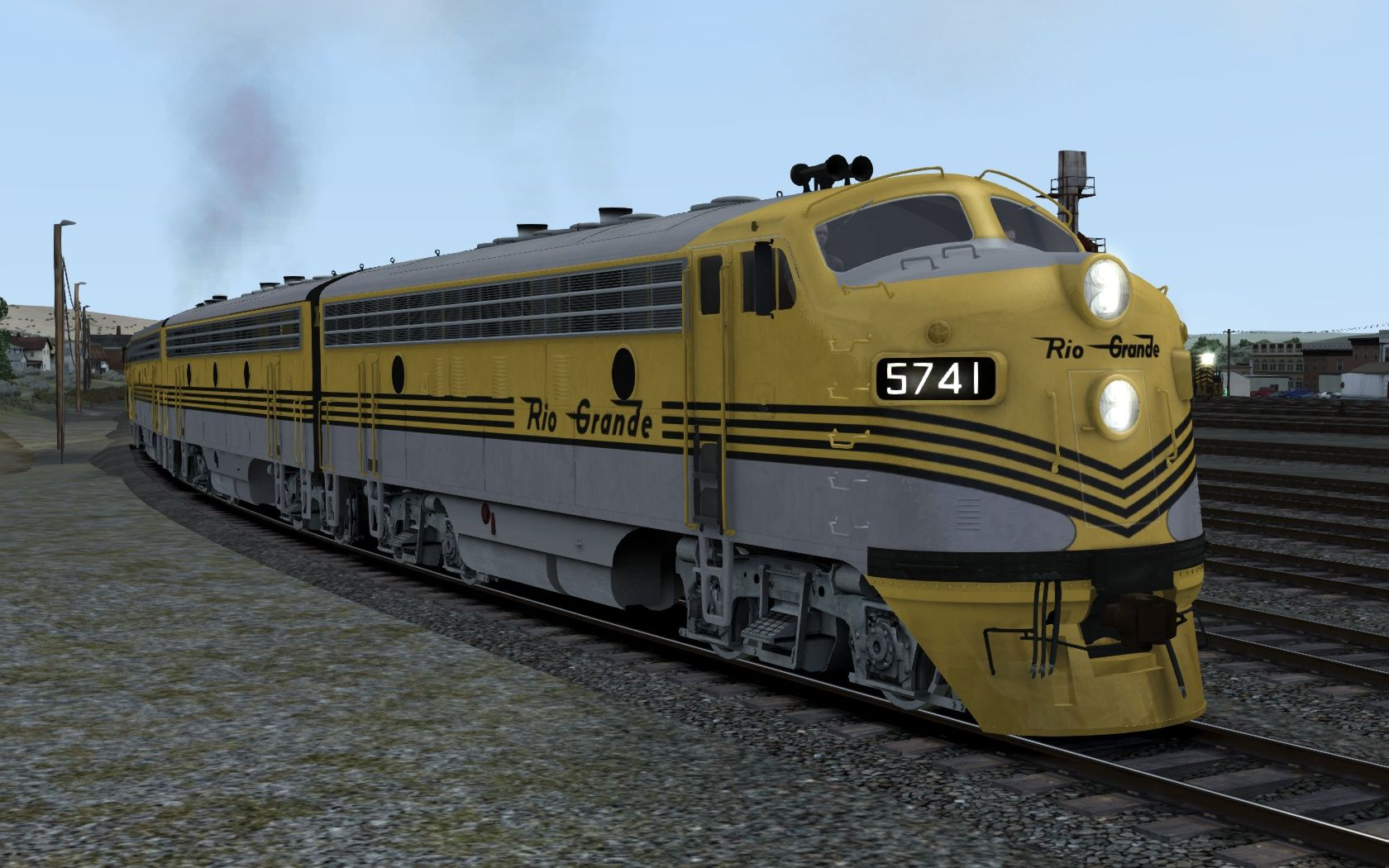 Image showing screenshot of the D&RGW F7 Add-On Livery on the TS Marketplace