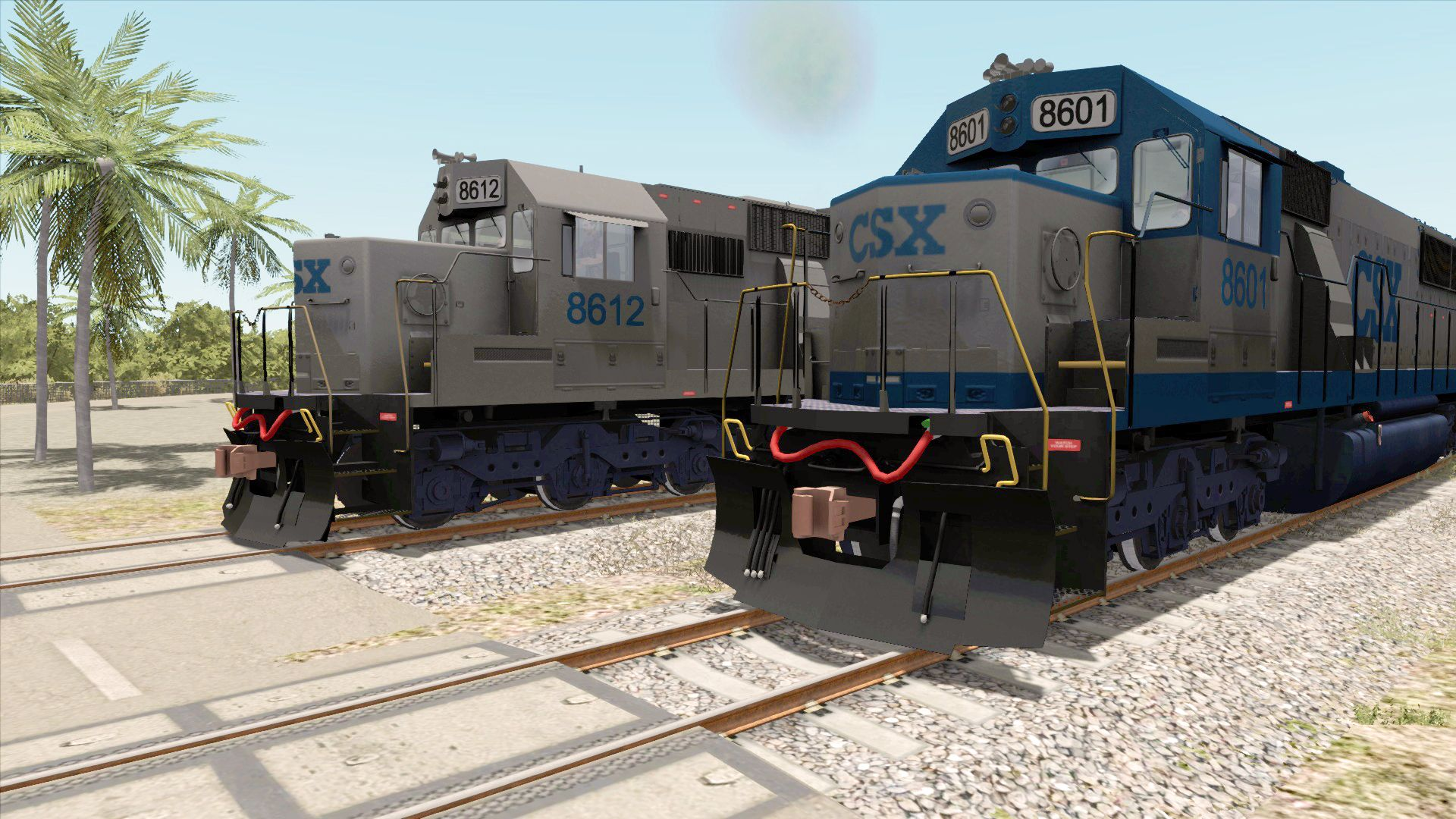 Image showing screenshot of the CSX SD50 Livery Add-On on the TS Marketplace