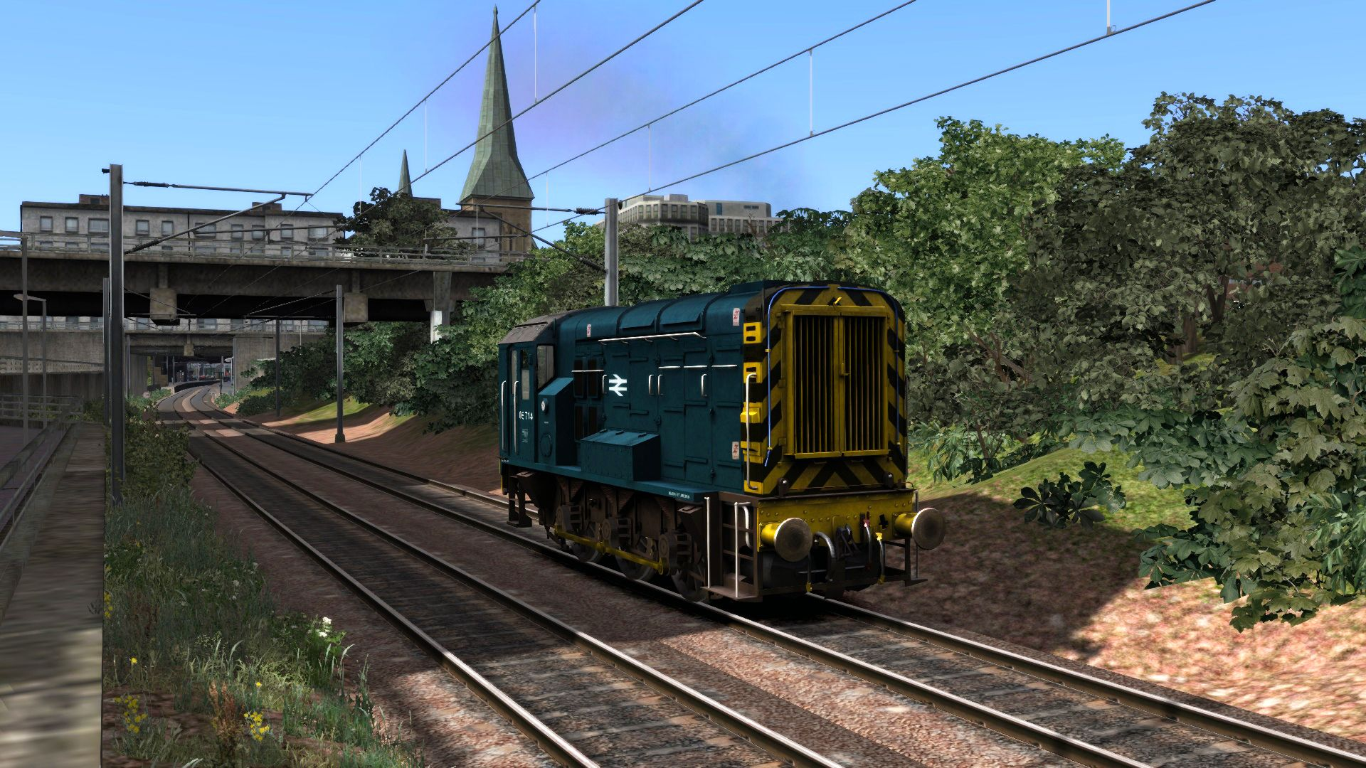 Image showing screenshot of the BR Blue Class 08 Add-on Livery on the TS Marketplace