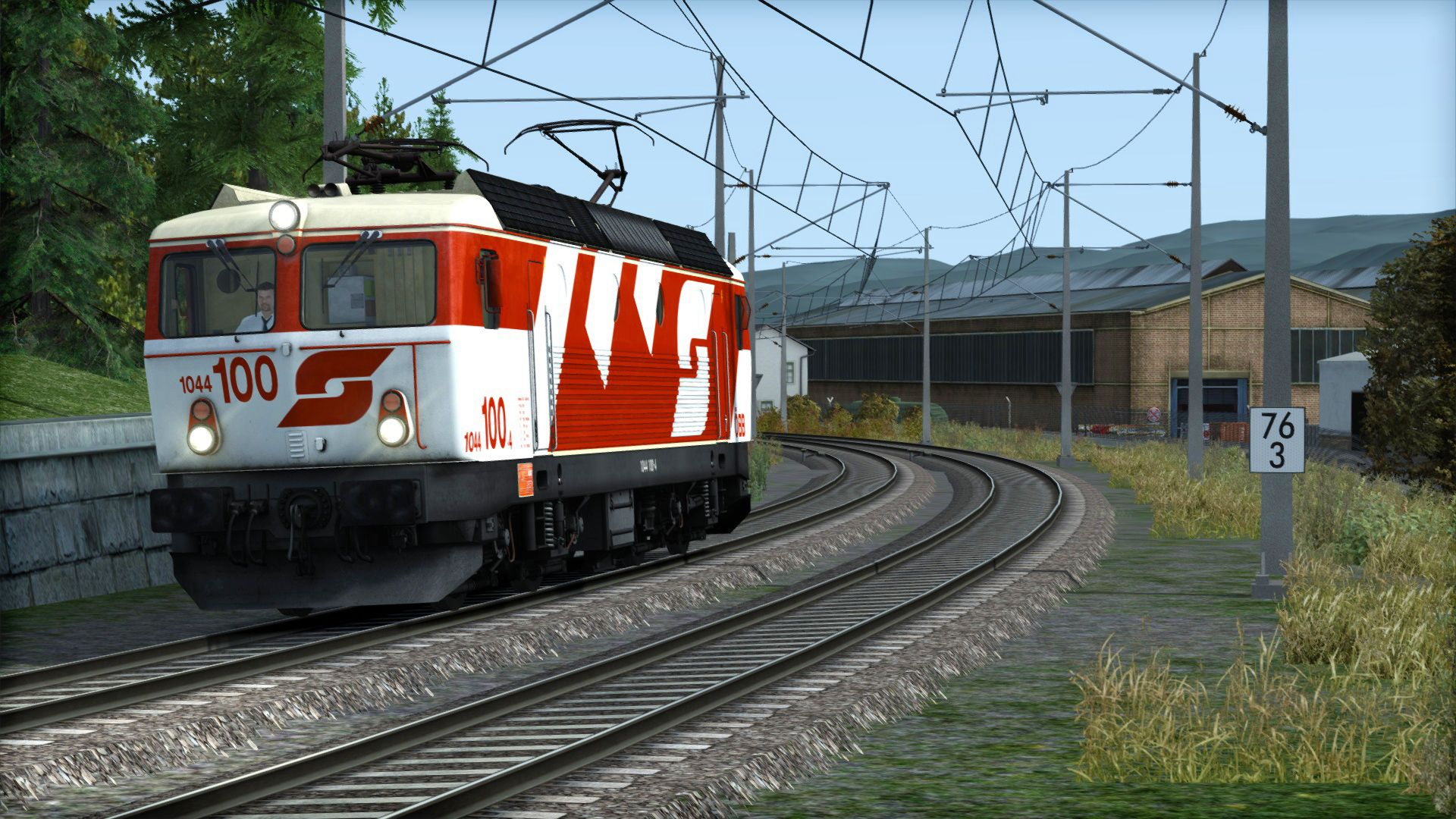 Image showing screenshot of the ÖBB 1044 '100' Livery Add-On on the TS Marketplace