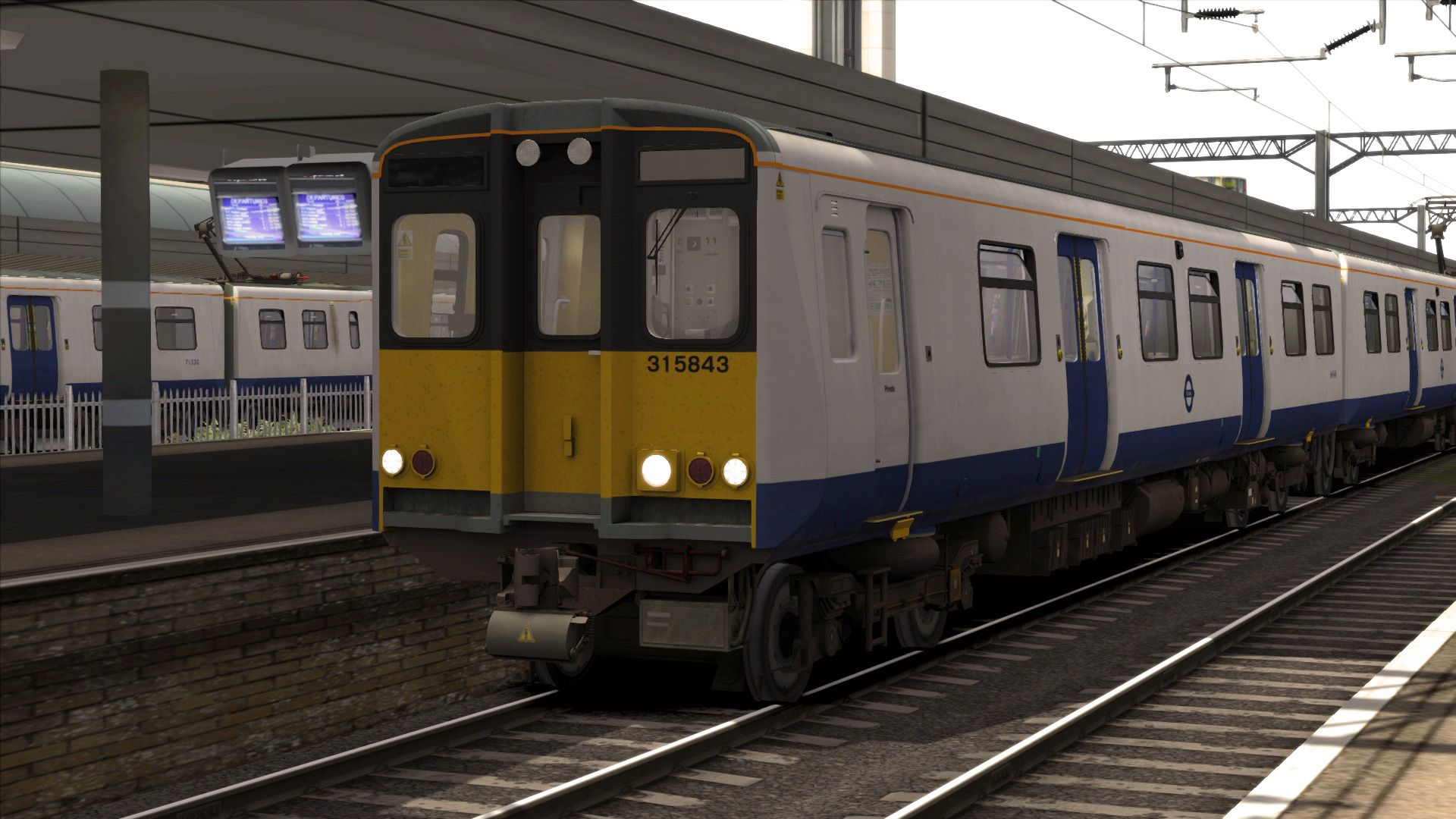 Image showing screenshot of the TfL Rail BR Class 315 EMU Livery Add-On on the TS Marketplace