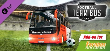 Clickable image taking you to the Steam store page for the Fußball Mannschaftsbus DLC for Fernbus Simulator