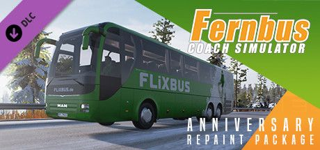 Clickable image taking you to the Steam store page for the Anniversary Repaint Package DLC for Fernbus Simulator