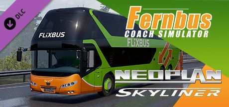 Clickable image taking you to the Steam store page for the Neoplan Skyliner DLC for Fernbus Simulator
