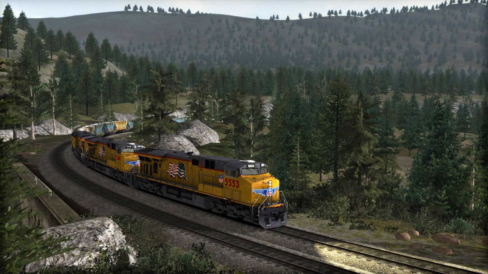 Image showing screenshot of a Donner Pass scenario pack
