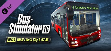 Clickable image taking you to the Green Man Gaming store page for the MAN Lion's City A 47 M DLC for Bus Simulator 16