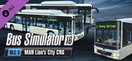 Clickable image taking you to the Green Man Gaming store page for the MAN Lion's City CNG Pack DLC for Bus Simulator 16