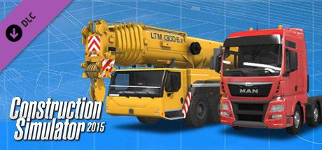 Clickable image taking you to the Green Man Gaming store page for the Liebherr LTM 1300 6.2 DLC for Construction Simulator 2015