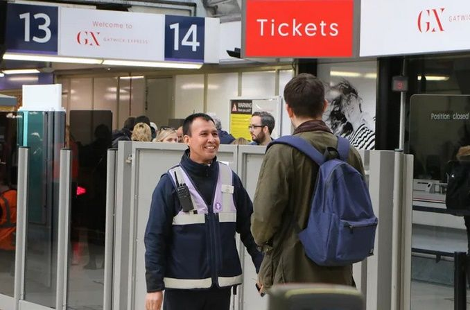 Image showing Gatwick Express staff at London Victoria