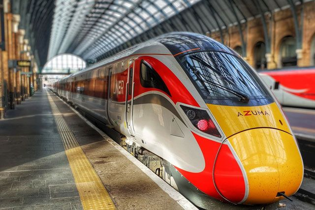 Image showing LNER Azuma train at London Kings Cross