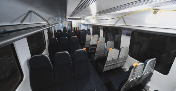 Image showing South Western Railway refurbished train interior