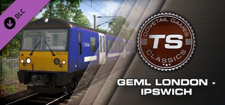 Clickable image taking you to the DPSimulation page for the Great Eastern Main Line London-Ipswich Route Add-On DLC for Train Simulator