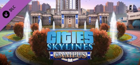 Clickable image taking you to the Indiegala store page for the Campus DLC for Cities: Skylines