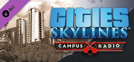 Clickable image taking you to the Indiegala store page for the Campus Radio DLC for Cities: Skylines
