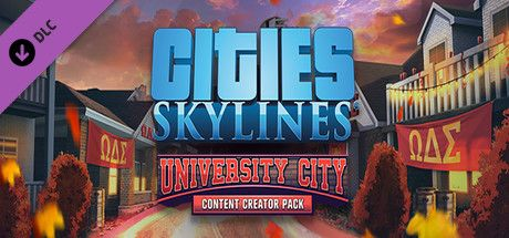 Clickable image taking you to the Indiegala store page for the Content Creator Pack: University City DLC for Cities: Skylines