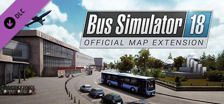 Clickable image taking you to the Steam store page for the Official map extension DLC for Bus Simulator 18