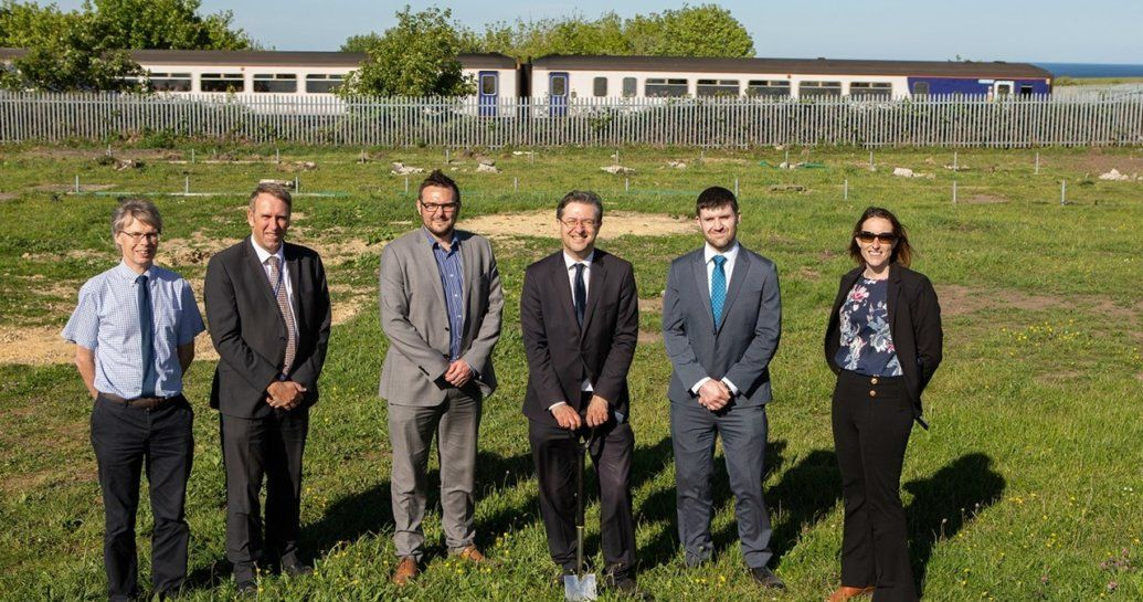 Image showing representatives gathered at the new Horden site