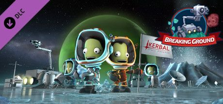 Clickable image taking you to the Green Man Gaming store page for the Breaking Ground Expansion DLC for Kerbal Space Program