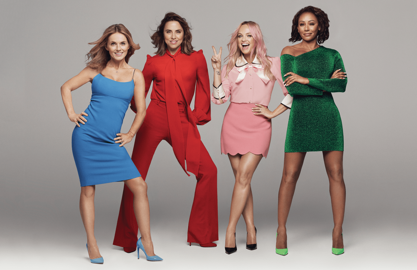 Image showing the four remaining members of the Spice Girls