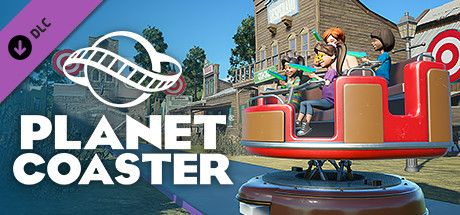 Clickable image taking you to the Steam store page for the Quick Draw Interactive Shooting Ride DLC for Planet Coaster