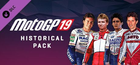 "Clickable image taking you to the Steam store page for the Historical Pack DLC for MotoGPâ""¢19"