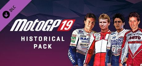 Clickable image taking you to the Steam store page for the Historical Pack DLC for MotoGP™19