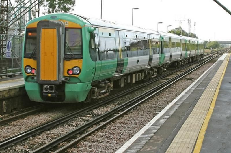 Image showing a Southern liveried Class 377 EMU