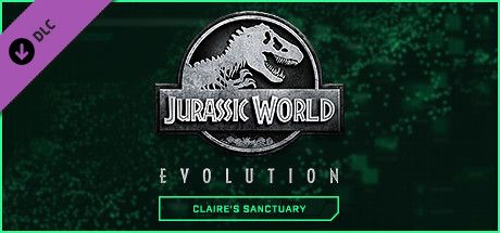 Clickable image taking you to the Steam store page for the Claire's Sanctuary DLC for Jurassic World Evolution