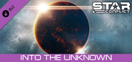 Clickable image taking you to the Steam store page for the Into the unknown DLC for Star Conflict