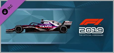 Clickable image taking you to the Steam store page for the Car Livery 'NOVUS - Datastream' DLC for F1 2019
