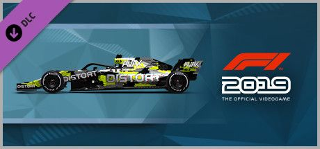 Clickable image taking you to the Steam store page for the Car Livery 'DISTORT - Interference' DLC for F1 2019