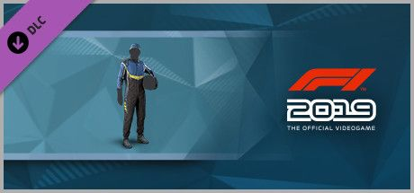 Clickable image taking you to the Steam store page for the Suit 'Blue and Black' DLC for F1 2019