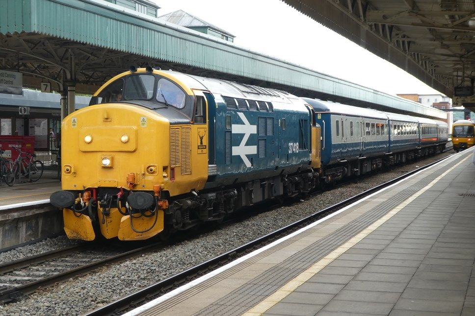 Image showing a Class 37 locomotive on a Transport for Wales service
