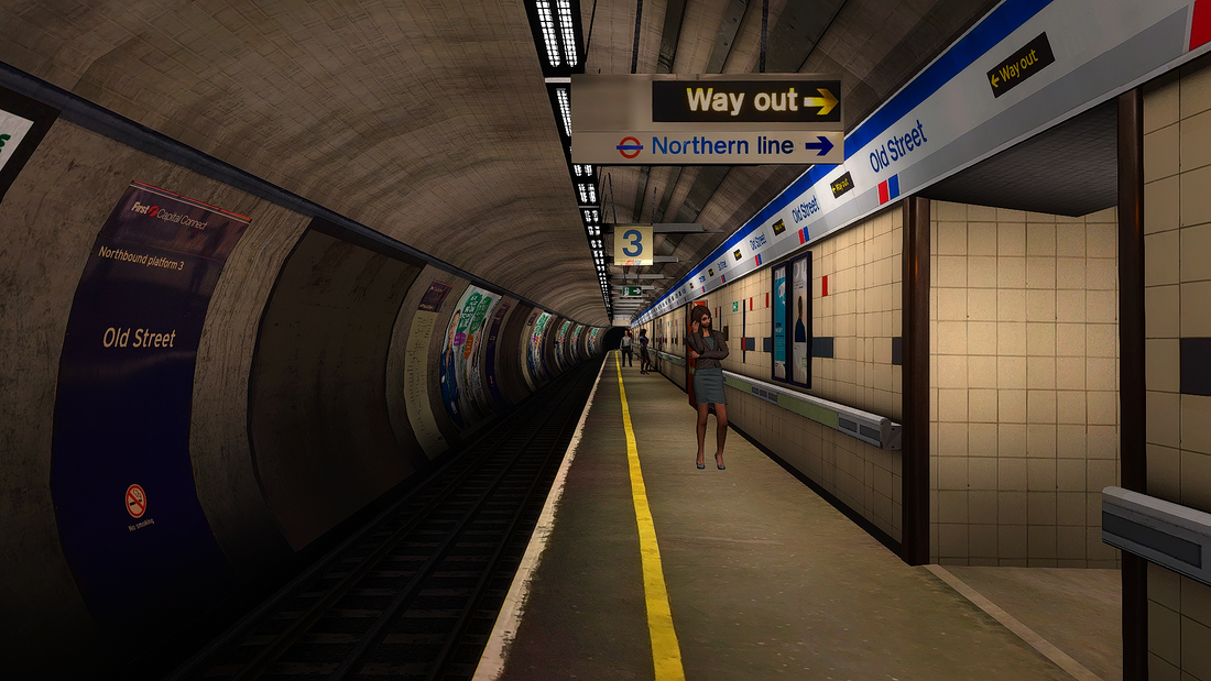Image showing screenshot of the ECML South: Moorgate extension from Backdated Trainsim.