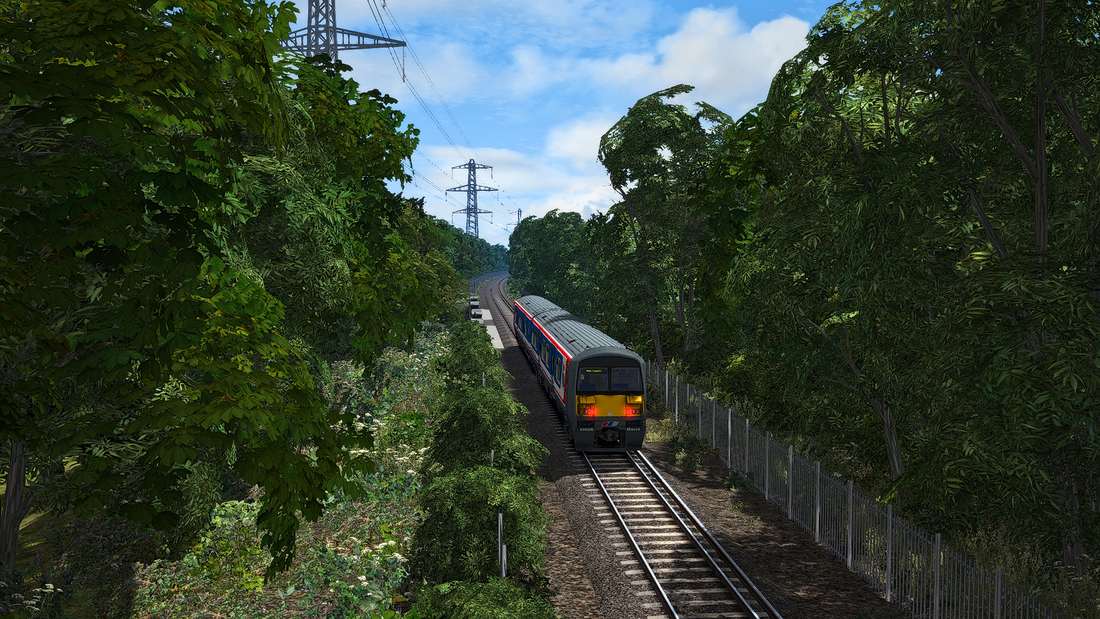 Image showing screenshot of the Wimbledon to West Croydon Line from Backdated Trainsim.