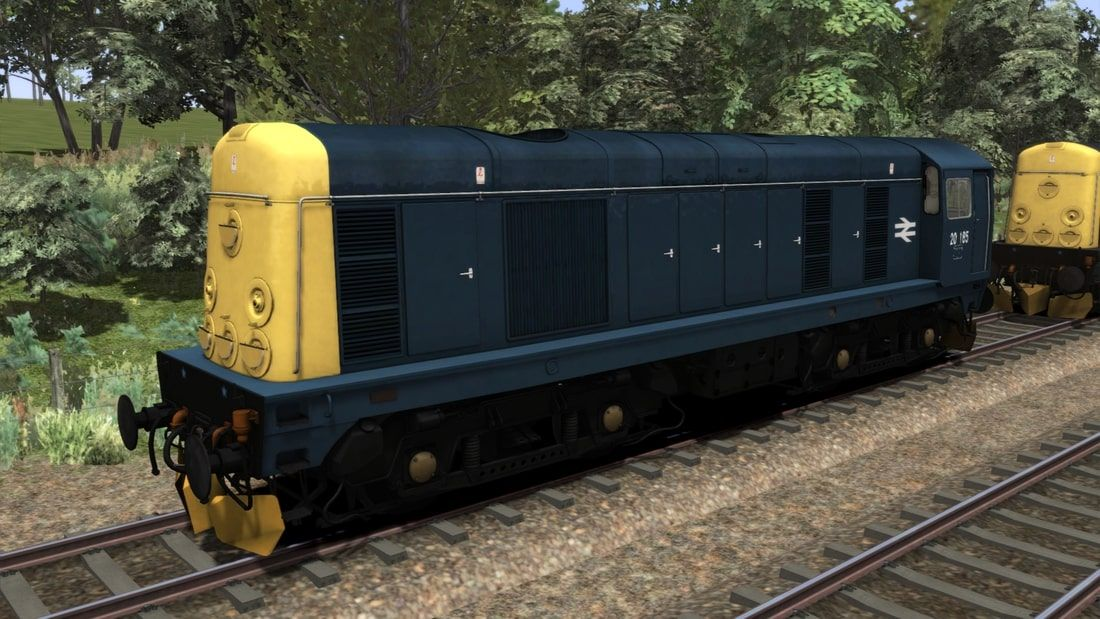 Image showing screenshot of the Class 20 locomotive in a variation of BR Blue livery as available from the Vulcan Productions website.
