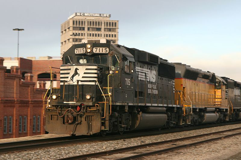 Image showing Norfolk Southern 7115 passing through Durham