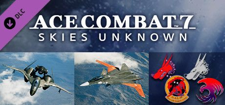 "Clickable image taking you to the Steam store page for the ADFX-01 Morgan Set DLC for Ace Combatâ""¢ 7: Skies Unknown"