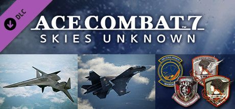 "Clickable image taking you to the Steam store page for the ADF-01 FALKEN Set DLC for Ace Combatâ""¢ 7: Skies Unknown"