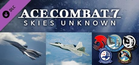 "Clickable image taking you to the Steam store page for the ADF-11F Raven Set DLC for Ace Combatâ""¢ 7: Skies Unknown"