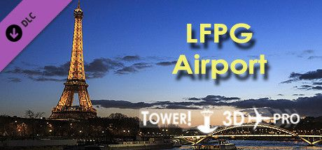 Clickable image taking you to the Steam store page for the LFPG airport DLC for Tower!3D Pro