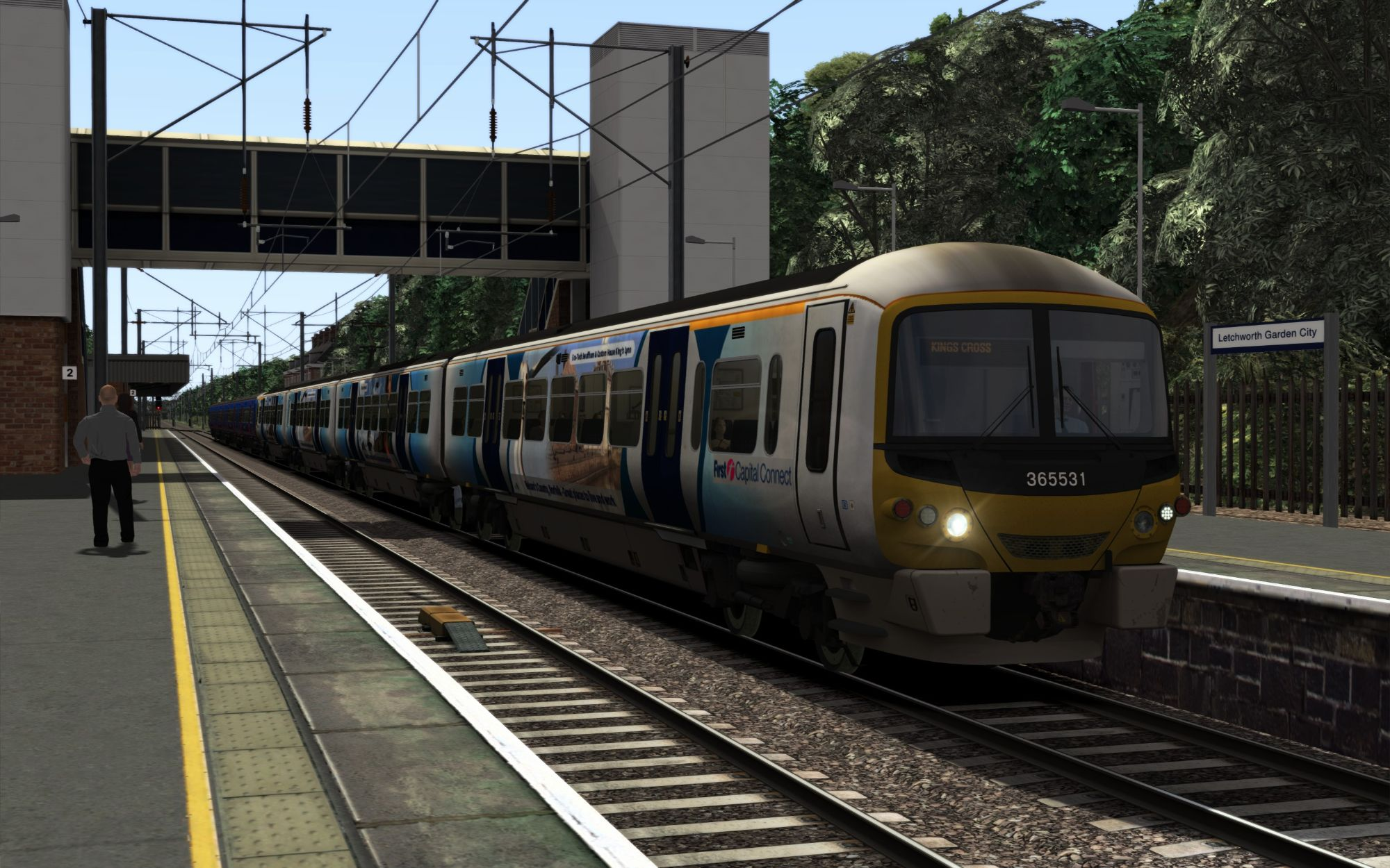 Image showing screenshot of the 1T55 - 0755 Kings Lynn to London Kings Cross scenario