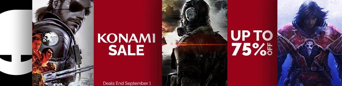 Clickable image taking you to the Konami sale at Green Man Gaming