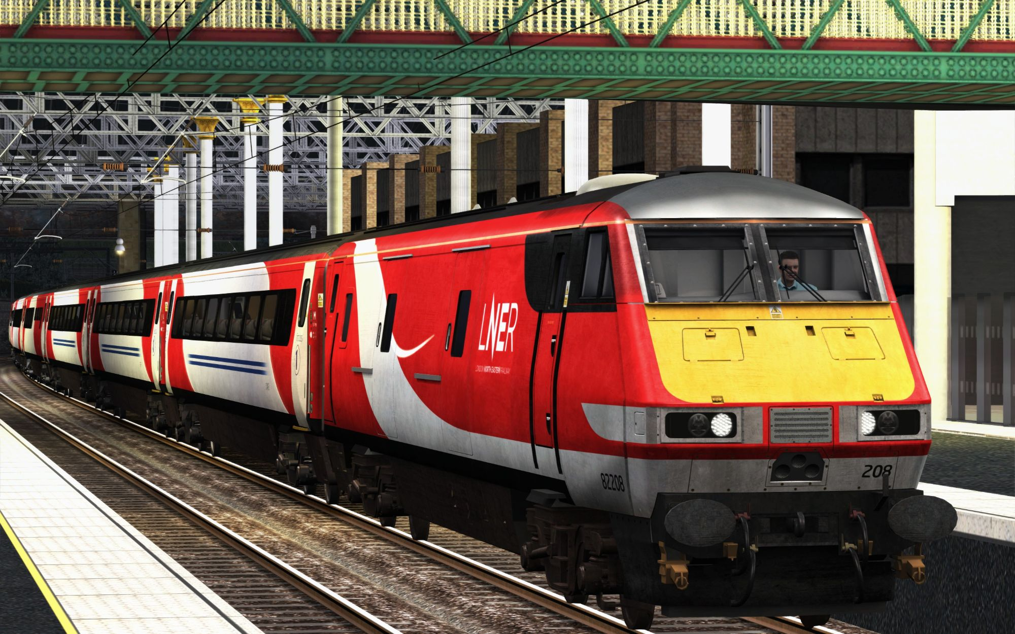 Image showing screenshot of the 1E27 - 1830 Edinburgh to London Kings Cross scenario