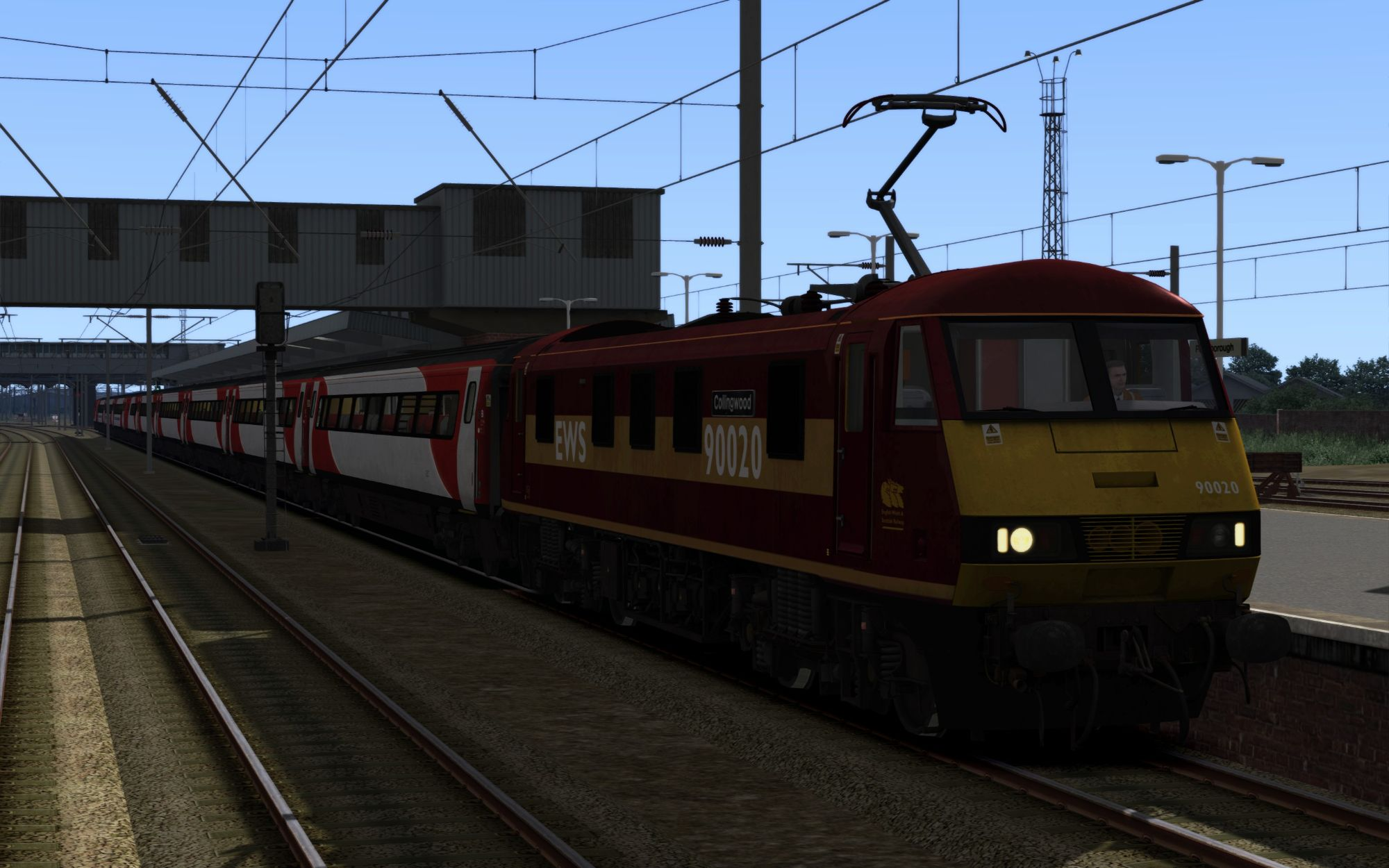 Image showing screenshot of the 1B86 - 1406 London Kings Cross to Newark North Gate scenario