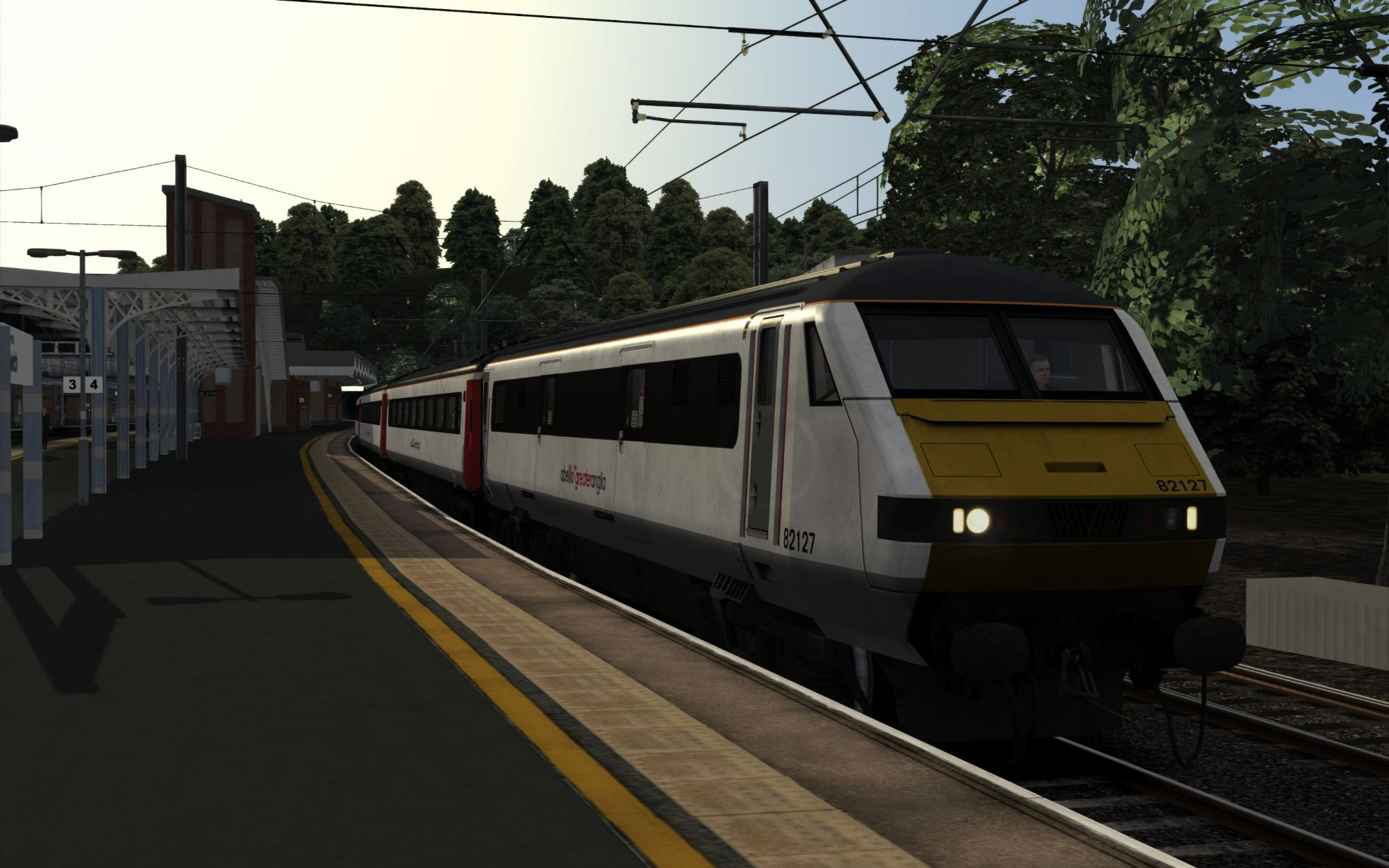 Image showing screenshot of the 1P00 - 0639 Ipswich to Norwich scenario