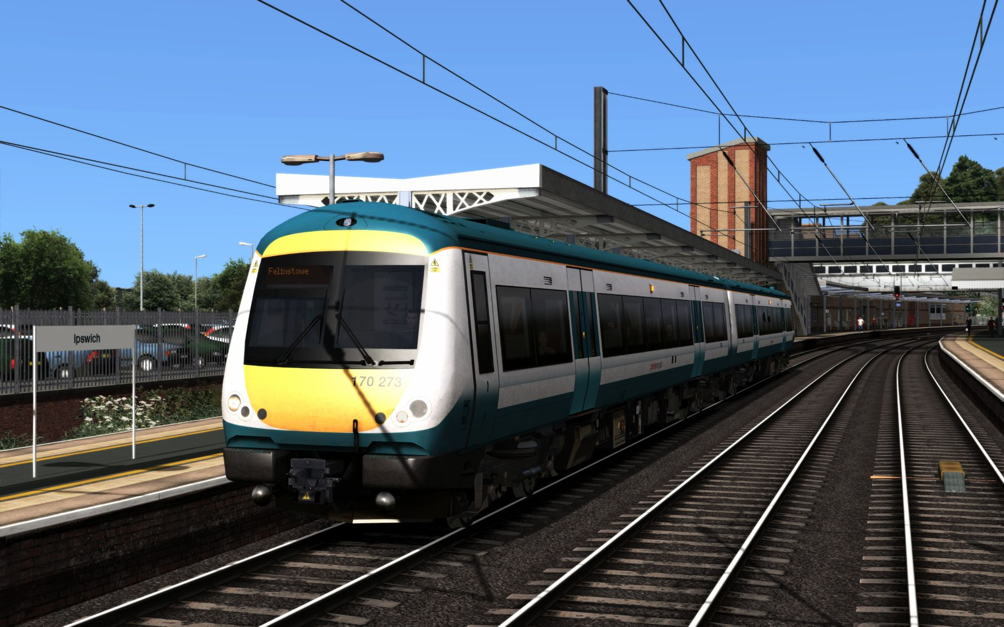 Image showing screenshot of the 2R26 - 1758 Ipswich to Felixstowe scenario