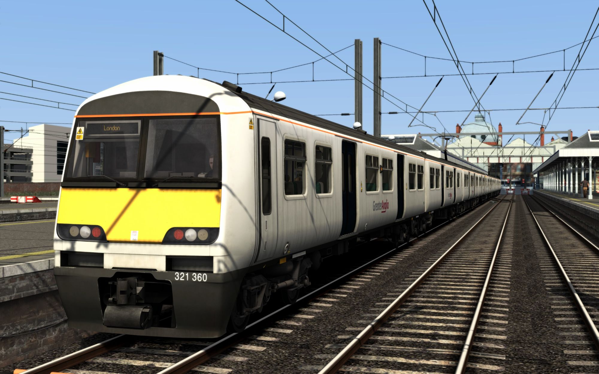 Image showing screenshot of the 1P23 - 0900 Norwich to London Liverpool Street scenario