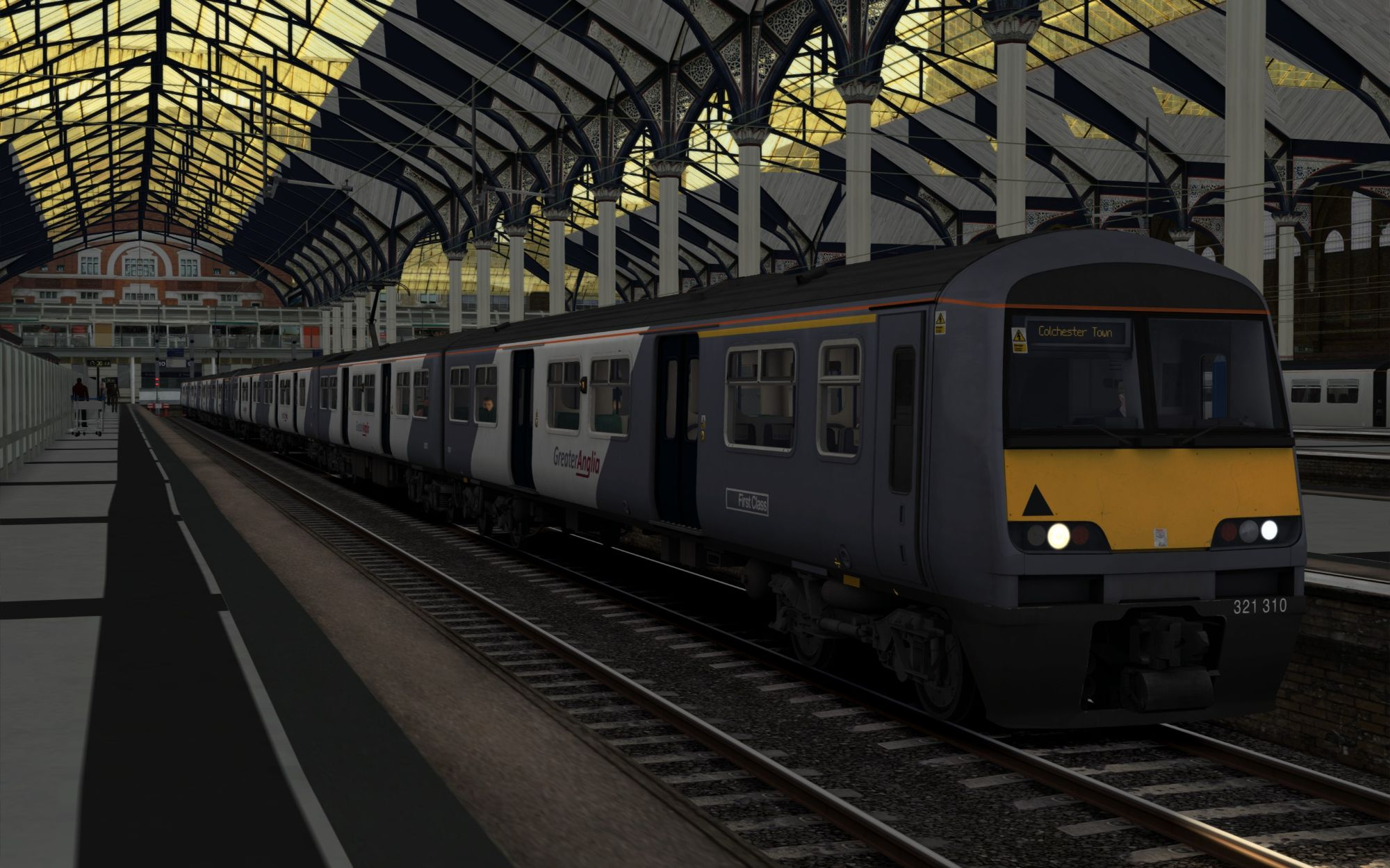 Image showing screenshot of the 1F46 - 1740 London Liverpool Street to Colchester Town scenario